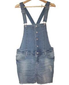 Tinseltown Overall Shorts Shortalls Blue Denim M